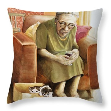 The Nanny Throw Pillow by Shelly Wilkerson