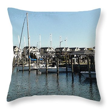 Throw Pillow featuring the photograph The Narrows by Charles Kraus