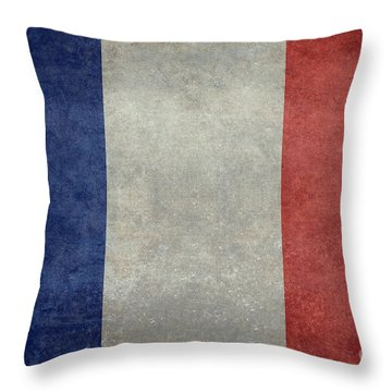The National Flag Of France Throw Pillow