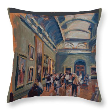 Throw Pillow featuring the painting The National Gallery By Nop Briex by Nop Briex
