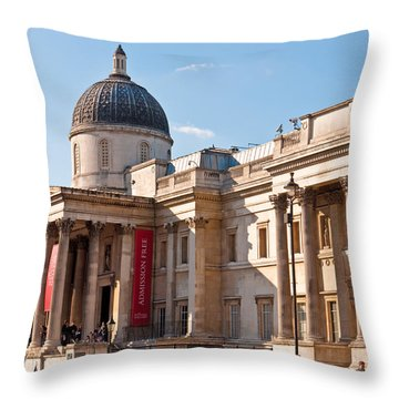 The National Gallery London Throw Pillow