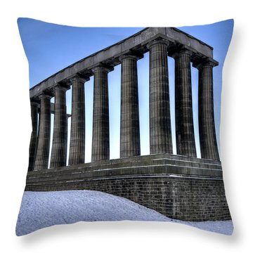 Throw Pillow featuring the photograph The National Monument by Ross G Strachan