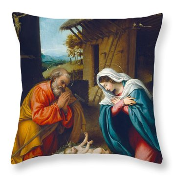 The Nativity 1523 Throw Pillow