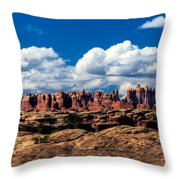 The Needles Throw Pillow by Robert Bales