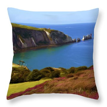 The Needles Throw Pillow by Ron Harpham