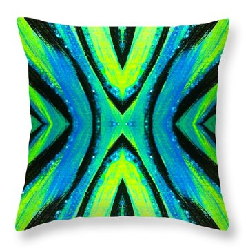 The Neon Zebra Throw Pillow by Drew Goehring