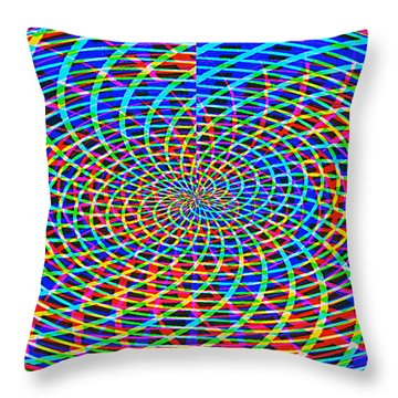 The Network Throw Pillow by Roz Abellera Art