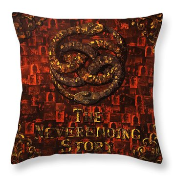 The Neverending Story Throw Pillow