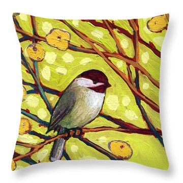 Chickadee Throw Pillows