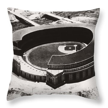 The New Cleveland Stadium Throw Pillow