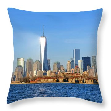 Throw Pillow featuring the photograph The New Manhattan by Olivier Le Queinec