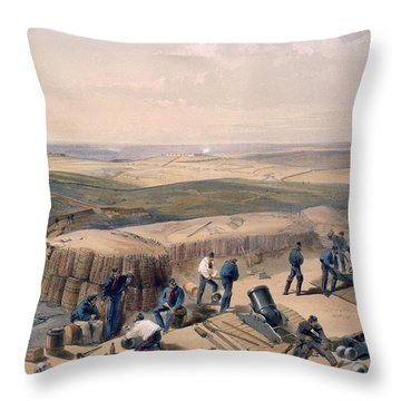 The New Works On The Right Attack Throw Pillow by William 'Crimea' Simpson