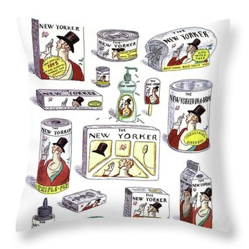 The New Yorker Repackaged Throw Pillow