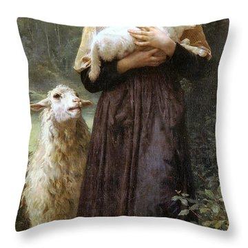 The Newborn Lamb Throw Pillow