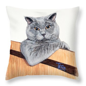 The Next Door Neighbor Throw Pillow
