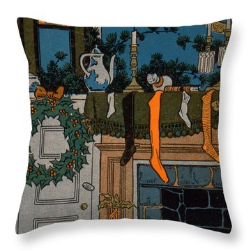 The Night Before Christmas Throw Pillow by Denlow