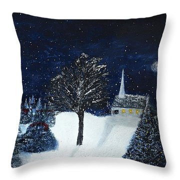 The Night Before Christmas Throw Pillow