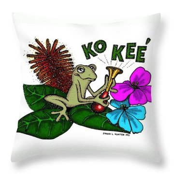 The Night Sound Of Puerto Rico Throw Pillow by Frank Hunter