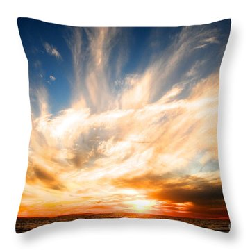 The Night The Sunset Danced Throw Pillow by Margie Amberge