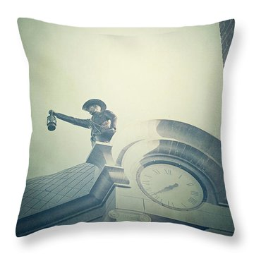 Throw Pillow featuring the photograph The Night Watchman by Trish Mistric