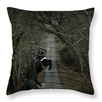 The Nightmare Throw Pillow by Davandra Cribbie
