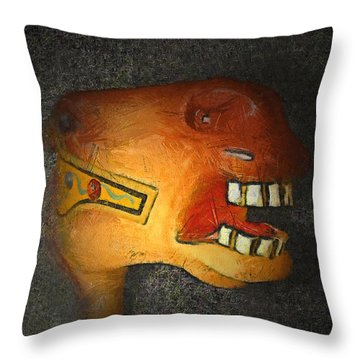 The Nightmare Throw Pillow by Ernie Echols