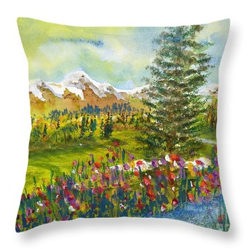 The Ninth Hole Throw Pillow