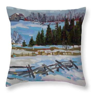 The Ninth Line Throw Pillow
