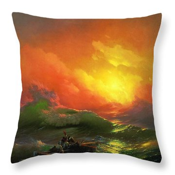 The Ninth Wave 1850 By Aivazovsky Throw Pillow by Movie Poster Prints