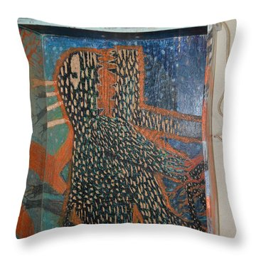 The Non-erring Line Is A Papercut - Drawer Throw Pillow by Nancy Mauerman