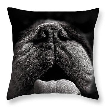 The Nose Knows Throw Pillow by Bob Orsillo