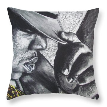 The Notorious B.i.g.  Throw Pillow by Eric Dee