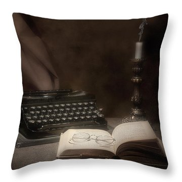 The Novelist Still Life Throw Pillow