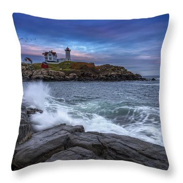 The Nubble In Color Throw Pillow