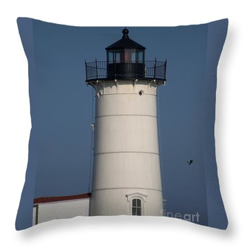 Throw Pillow featuring the photograph Lighthouse by Eunice Miller