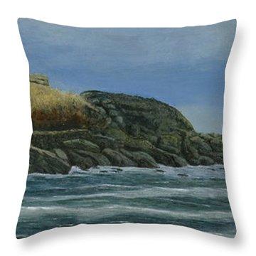 The Nubble Throw Pillow by Nan McCarthy