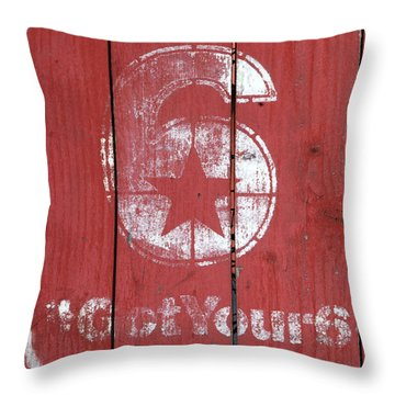 The Number 6 Throw Pillow by Art Block Collections