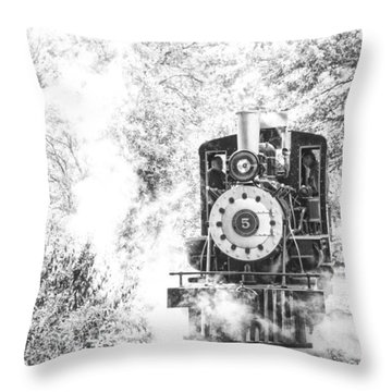 The Number Five Throw Pillow by Karol Livote