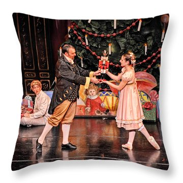 The Nutcracker Throw Pillow by Bill Howard