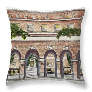 The Nyu Law School Throw Pillow
