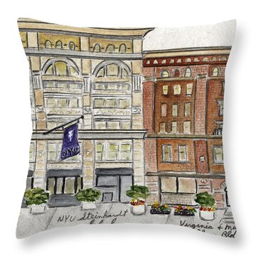 The Nyu Steinhardt Pless Building Throw Pillow