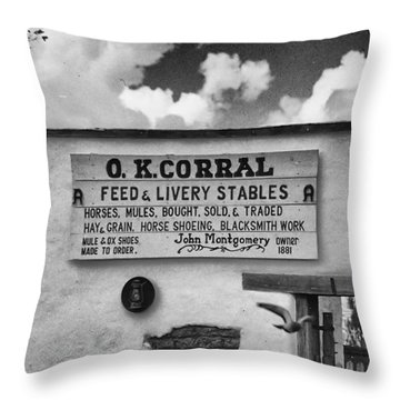The O. K. Corral Throw Pillow by Anne Rodkin