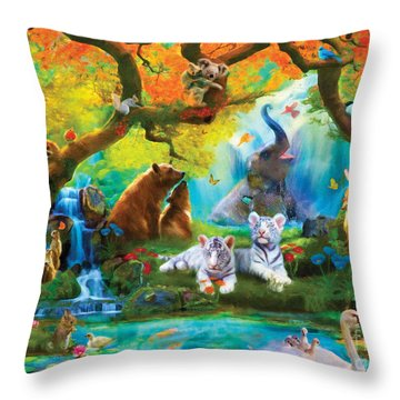The Oasis Throw Pillow by Aimee Stewart