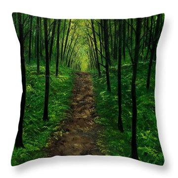 The Occasional Traveler Throw Pillow