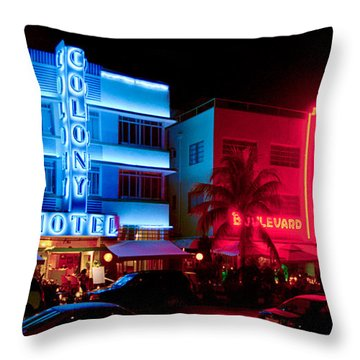 The Ocean Drive Throw Pillow by Gary Dean Mercer Clark