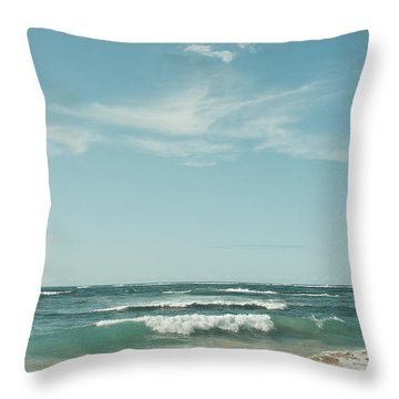 The Ocean Of Joy Throw Pillow by Sharon Mau