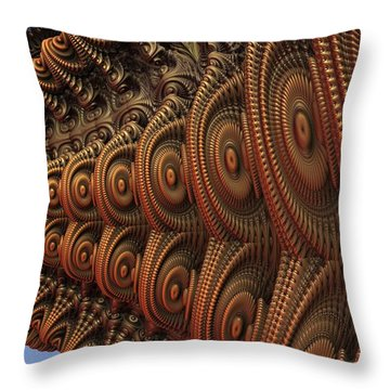 The Odd Beauty Of Fractals Throw Pillow by Lyle Hatch