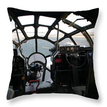 Throw Pillow featuring the photograph The Office by David S Reynolds
