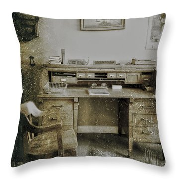 The Office  Throw Pillow by Jerry Cordeiro