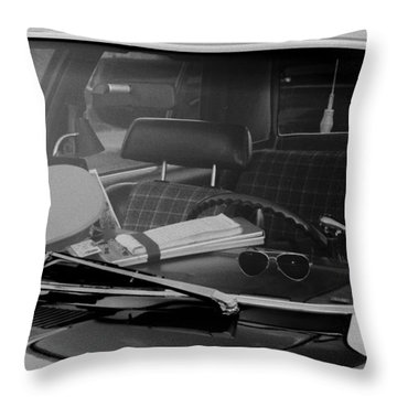 Throw Pillow featuring the photograph The Office On Wheels by Jim Thompson